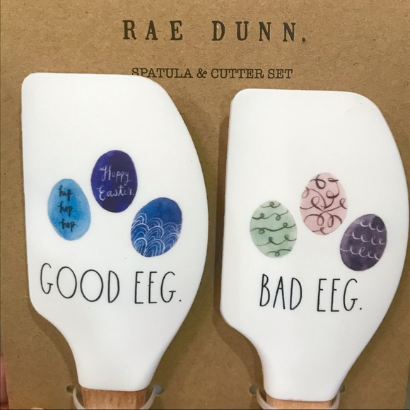 RAE DUNN Easter Spatula and Cookie Cutter Set